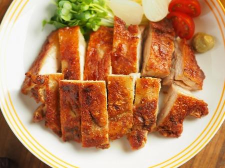鶏もも肉のアンチョビ焼き004