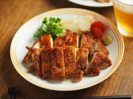鶏もも肉のアンチョビ焼き002