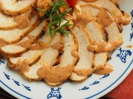 鶏むね肉のオーロラソース焼き031