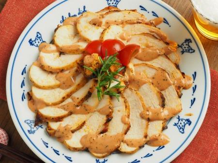 鶏むね肉のオーロラソース焼き028
