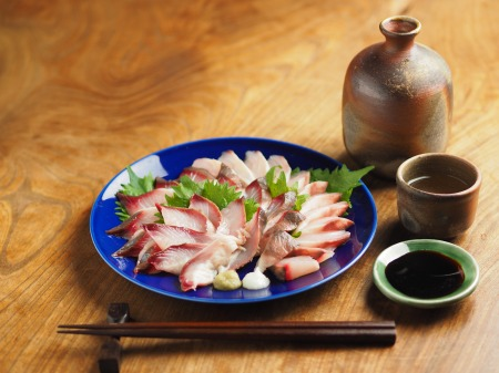 ボラの寿司酢締め刺身004