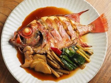 金時鯛の煮付け008