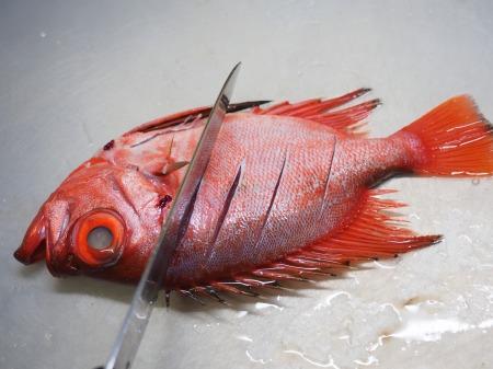 金時鯛の煮付け072