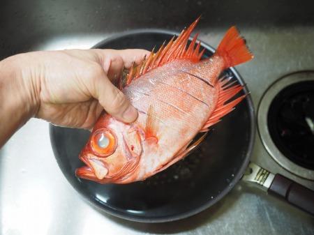 金時鯛の煮付け075