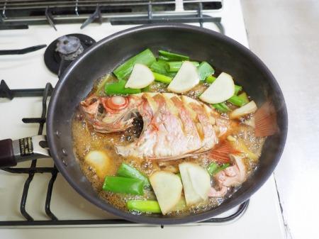 金時鯛の煮付け097