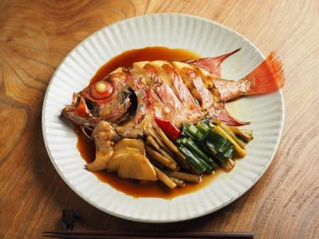 金時鯛の煮付け010