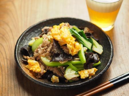 豚肉ときくらげの卵炒め木須018