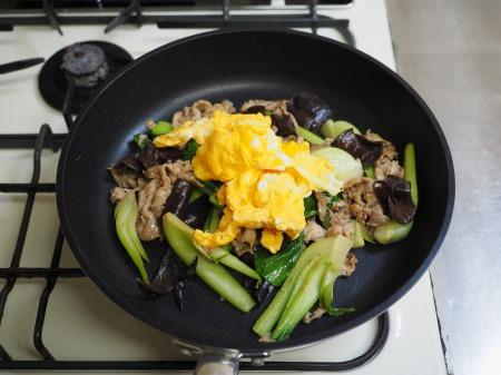 豚肉ときくらげの卵炒め木須063