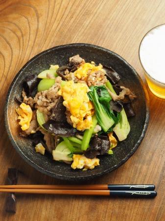 豚肉ときくらげの卵炒め木須021