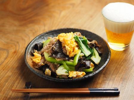 豚肉ときくらげの卵炒め木須004