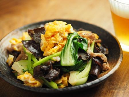 豚肉ときくらげの卵炒め木須023