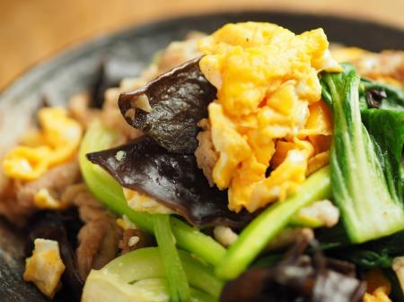豚肉ときくらげの卵炒め木須026