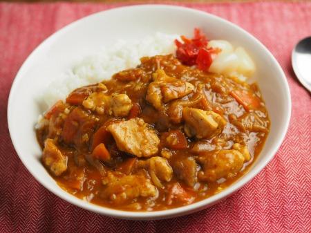 カレー粉で作る鶏むね肉カレ009