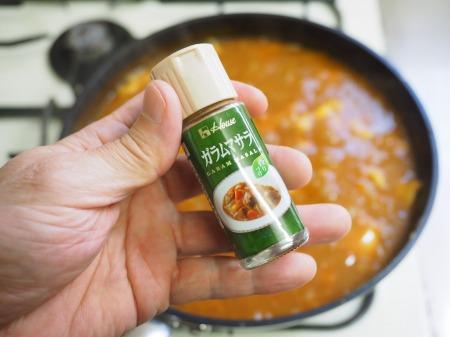 カレー粉で作る鶏むね肉カレ085