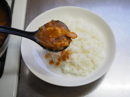 カレー粉で作る鶏むね肉カレ089