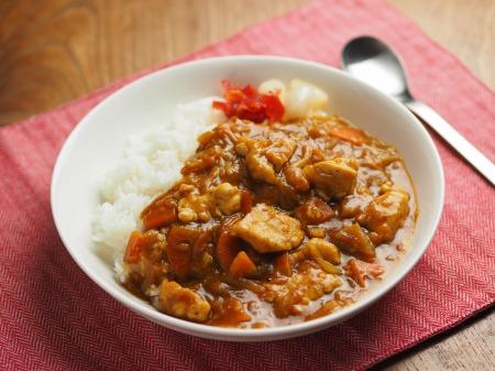 カレー粉で作る鶏むね肉カレ014