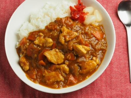 カレー粉で作る鶏むね肉カレ017