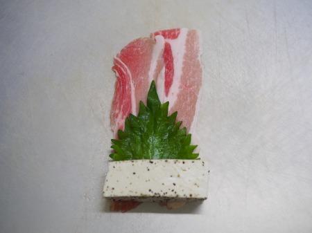 木綿豆腐肉巻き照り焼き087