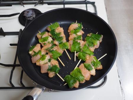 鶏むね肉の梅しそ焼き088