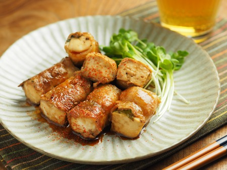 焼き豆腐肉巻き照り焼き018