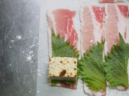 焼き豆腐肉巻き照り焼き043