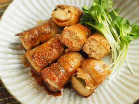 焼き豆腐肉巻き照り焼き021