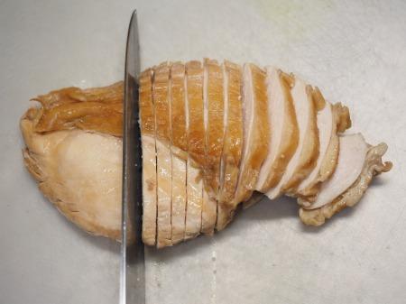 鶏むね肉のポン酢蒸し035