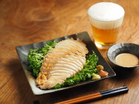 鶏むね肉のポン酢蒸し006