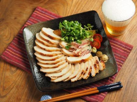 鶏むね肉のぽん酢焼き011