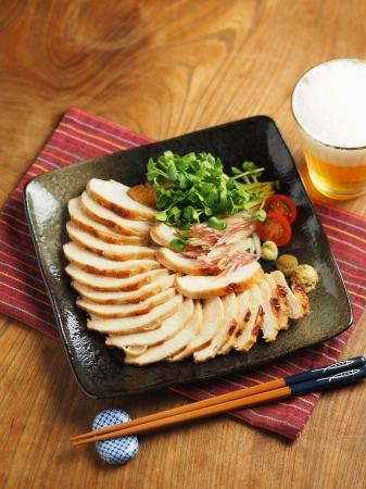 鶏むね肉のぽん酢焼き016