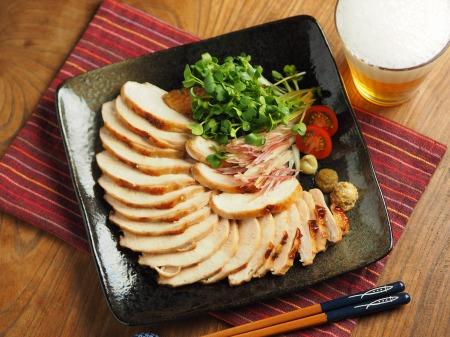 鶏むね肉のぽん酢焼き013