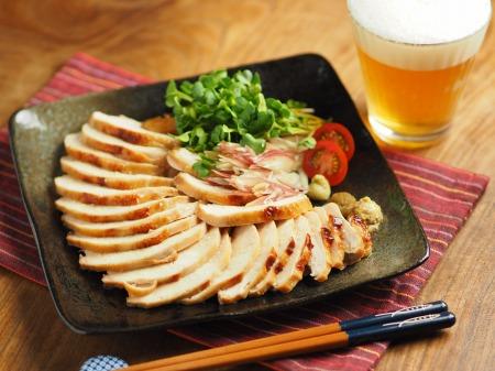 鶏むね肉のぽん酢焼き020
