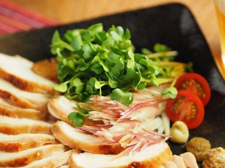 鶏むね肉のぽん酢焼き022
