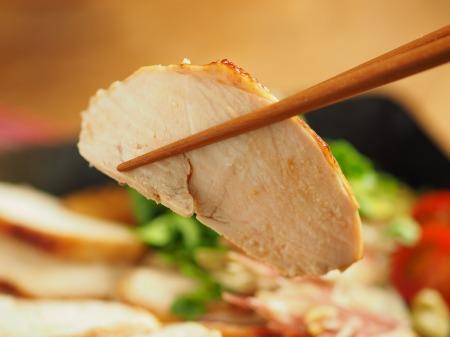 鶏むね肉のぽん酢焼き026