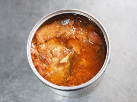 サバ缶とナスの煮魚そうめん057