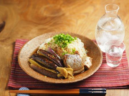サバ缶とナスの煮魚そうめん023