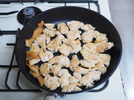 鶏むね肉のフライパン焼き玉ね039