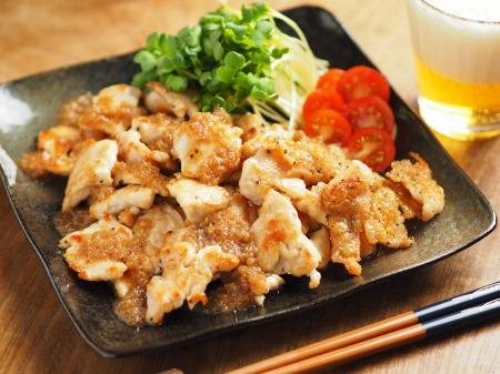 鶏むね肉のフライパン焼き玉ね002