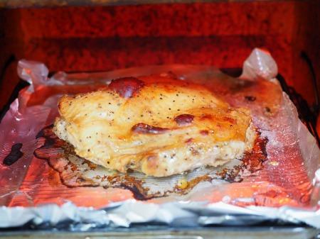 鶏もも肉のポン酢漬けオーブン027