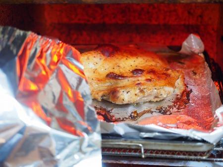 鶏もも肉のポン酢漬けオーブン029