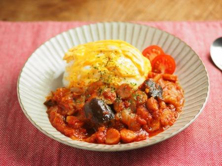 トマトソースご飯022