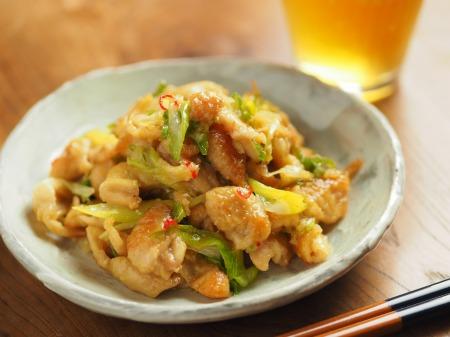 鶏皮のピリ辛味噌炒め煮014