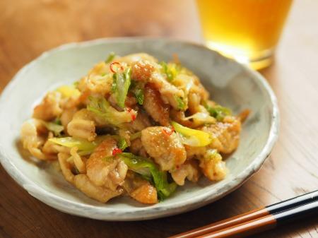 鶏皮のピリ辛味噌炒め煮010