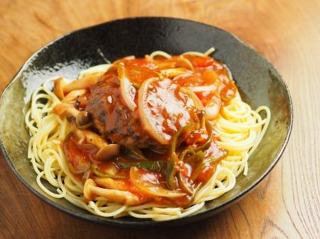 あんかけスパゲティ、ハンバーグ020