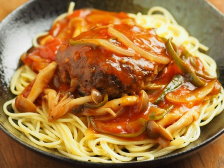 あんかけスパゲティ、ハンバーグ029