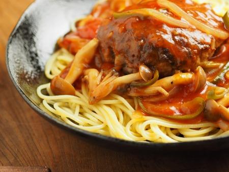 あんかけスパゲティ、ハンバーグ027