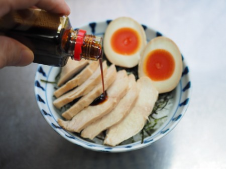 鶏むね肉のぽん酢蒸しサラダ039