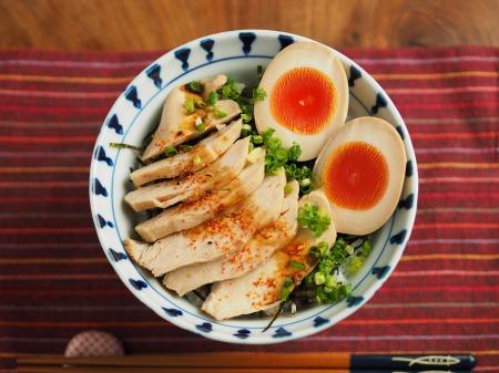 鶏むね肉のぽん酢蒸しサラダ014