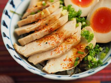 鶏むね肉のぽん酢蒸しサラダ010