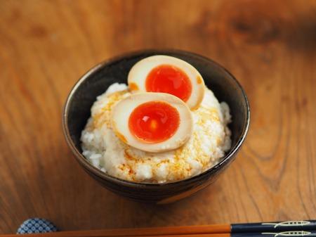 煮玉子とろろご飯004